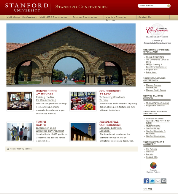 stanford conferences screen shot