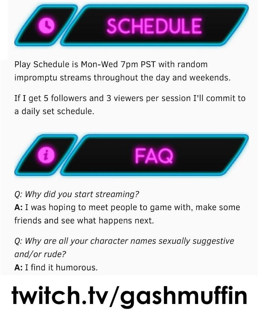 Gashmuffin on Twitch   MGHurston Creative Services